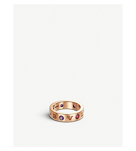 BVLGARI Roman Sorbets 18kt pink-gold and precious gemstone ring