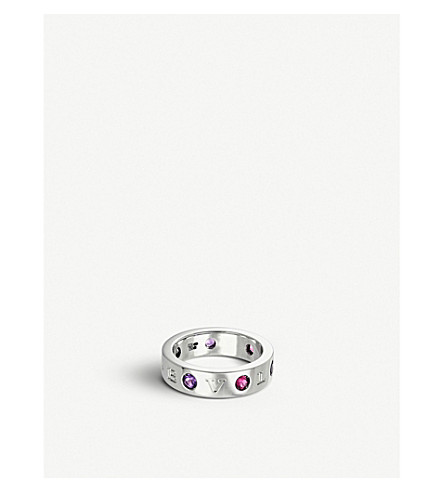 BVLGARI Roman Sorbets 18kt white-gold and precious gemstone ring