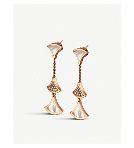 BVLGARI 天后的梦想18kt 粉红色-金和钻石耳环 (粉红色 + 金色