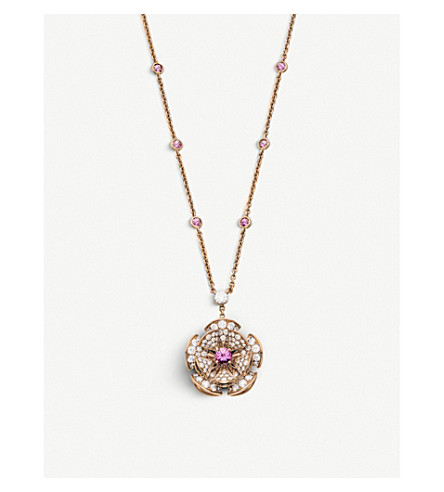 BVLGARI Divas' dream 18kt pink-gold, diamond and precious gemstone necklace
