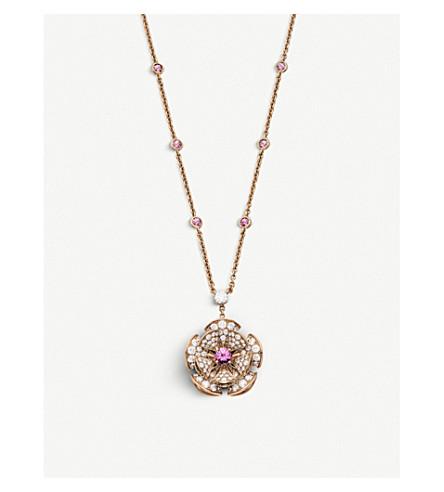 BVLGARI 天后的梦想18kt 粉红色-金色, 钻石和宝石项链