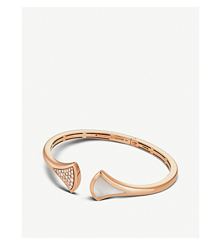 BVLGARI Diva's Dream 18ct Pink Gold-Plated Bracelet (Pink+gold