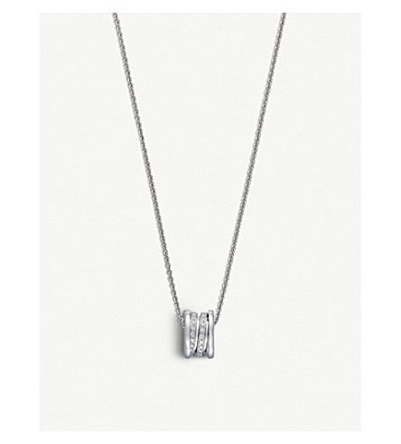 BVLGARI B.zero1 18kt white-gold and diamond pendant