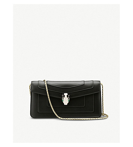BVLGARI Serpenti forever leather shoulder bag (Black