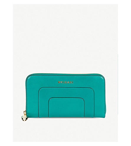 BVLGARI Serpenti Forever leather wallet (Emerald+green