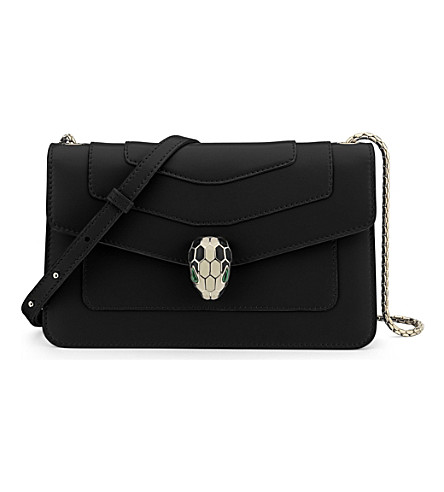 BVLGARI Serpenti Forever calf-leather clutch