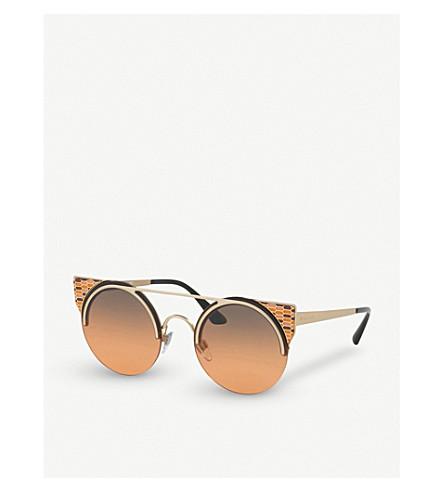 BVLGARI Serpenti 903427 round sunglasses