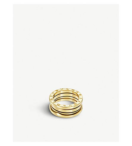 BVLGARI B.zero1 three-band 18kt yellow-gold ring