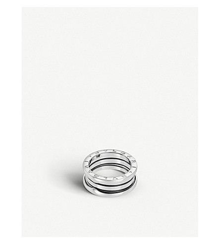 BVLGARI B.zero1 three-band white gold ring