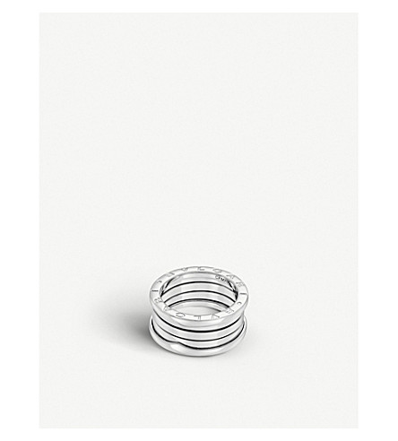 BVLGARI B.zero1 four-band stainless steel ring