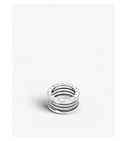 BVLGARI B.zero1 four-band 18kt white-gold and diamond ring