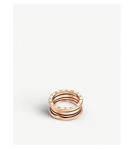 BVLGARI B.zero1 three-band 18kt pink-gold ring