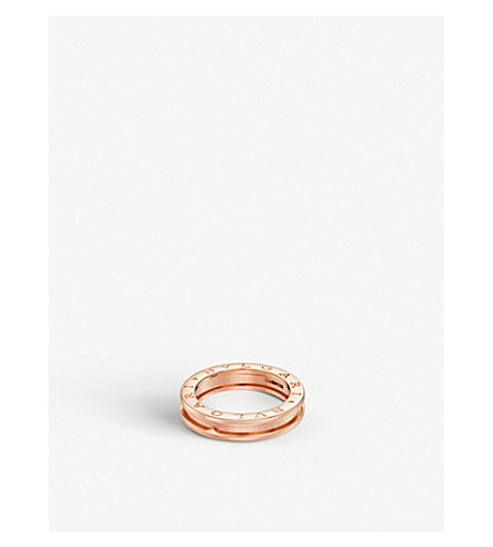 BVLGARI B.zero1 one-band 18kt pink-gold ring