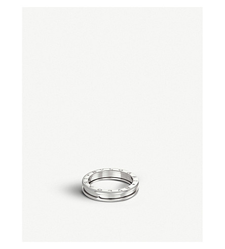 BVLGARI B.zero1 one-band 18ct white-gold ring