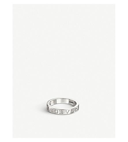 BVLGARI BVLGARI-BVLGARI 18kt white-gold ring