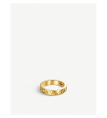 BVLGARI BVLGARI-BVLGARI 18kt yellow-gold and diamond ring