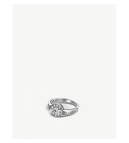 BVLGARI BVLGARI-BVLGARI 18kt white-gold and diamond ring