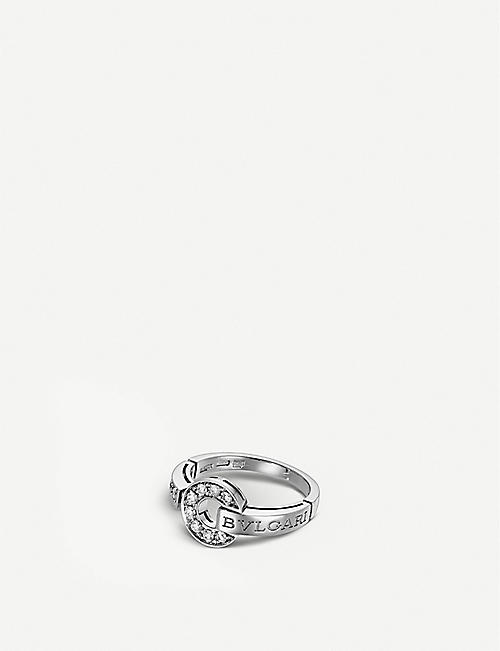 bvlgari 18kt whitegold and diamond ring
