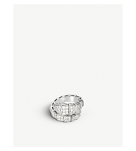 BVLGARI Serpenti 18kt white-gold and diamond ring