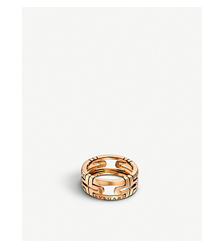 BVLGARI Parentesi 18kt pink-gold ring