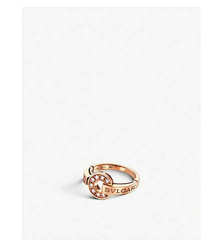 BVLGARI BVLGARI-BVLGARI 18kt pink-gold and diamond ring