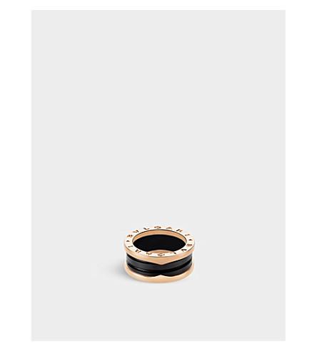 BVLGARI B. zero1 18kt 粉红色金和陶瓷环