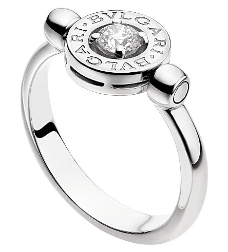 BVLGARI Bvlgari-Bvlgari 18kt white-gold and diamond flip ring