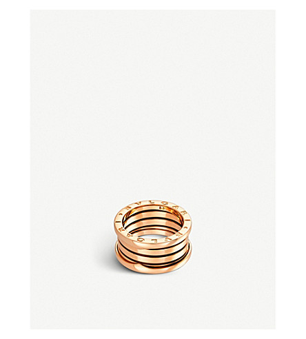 BVLGARI B.zero1 four-band 18kt pink-gold ring