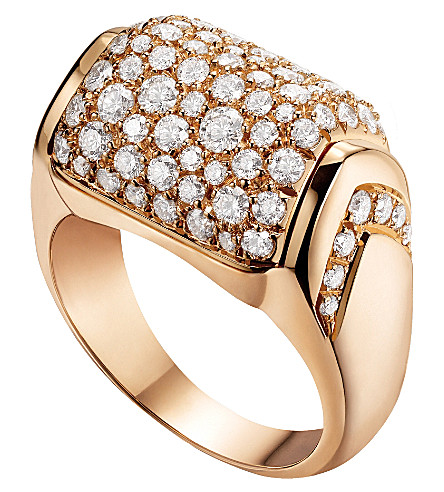 BVLGARI MVSA 18kt pink-gold and diamond ring
