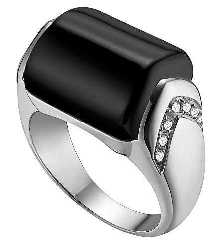 BVLGARI MVSA 18kt white-gold and diamond ring
