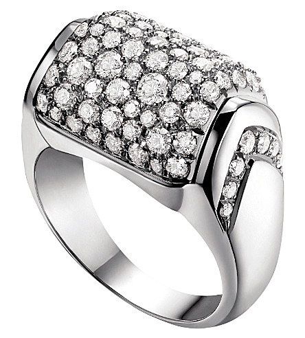 BVLGARI MVSA 18kt white-gold ring