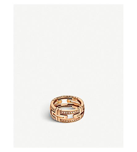 BVLGARI Parentesi 18kt 粉红色金和钻石戒指