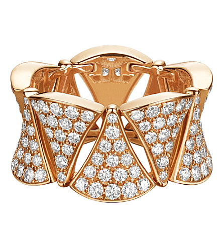 BVLGARI Divas' Dream ring 18kt pink-gold and diamond ring