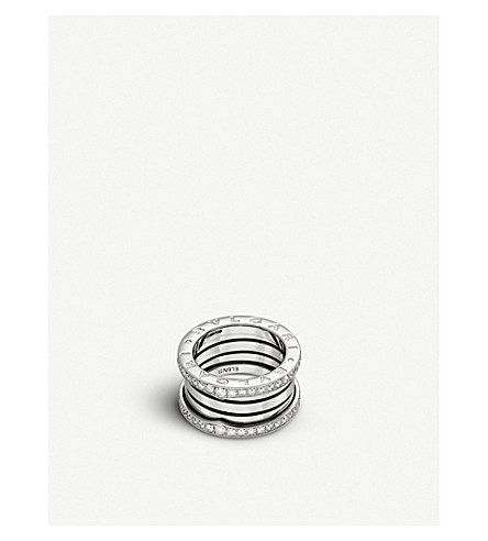 BVLGARI B.zero1 three-band 18kt white-gold ring
