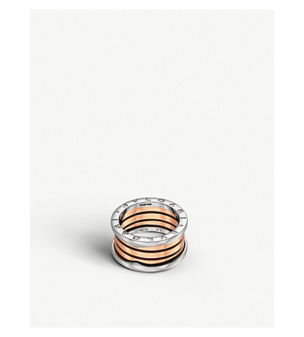 BVLGARI B.zero1 18kt pink and white-gold ring