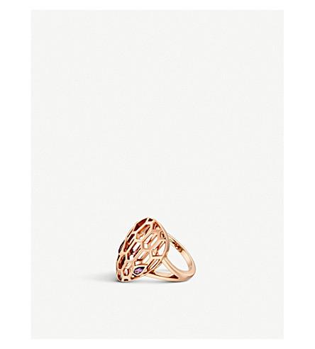 BVLGARI Serpenti Seduttori 18kt 粉红色金色和紫水晶环