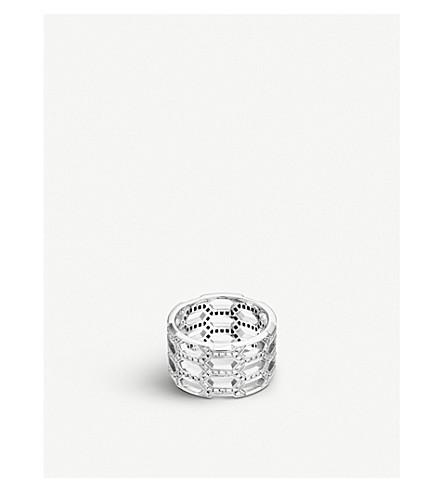 BVLGARI Serpenti Seduttori 18kt 白金钻石戒指