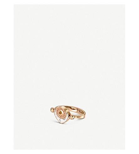 BVLGARI Bvlgari-Bvlgari Cuore 18ct 粉红-金色和珍珠母翻转环