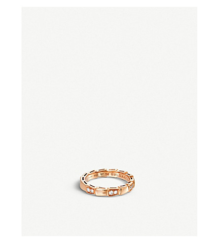 BVLGARI Serpenti 18ct rose-gold and diamond ring