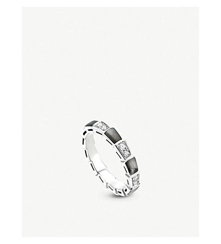 BVLGARI Serpenti 18ct white-gold and diamond ring