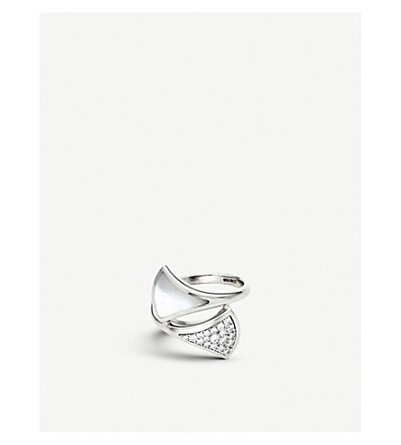 BVLGARI Divas' dream contraire 18kt white-gold and diamond ring