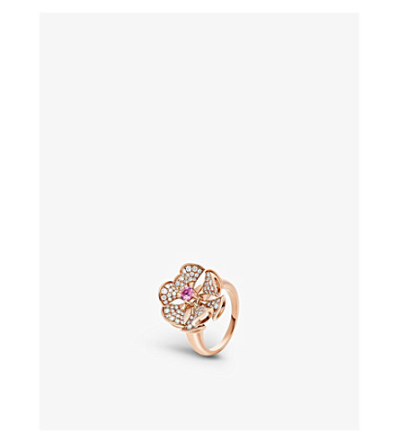 BVLGARI Divas' dream 18ct rose-gold and diamond ring
