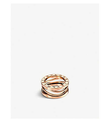 BVLGARI B.zero1 Zaha Hadid three band 18ct pink-gold ring (Pink+gold