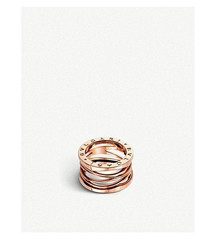 BVLGARI B.zero1 Zaha Hadid four band 18ct pink-gold ring (Pink+gold