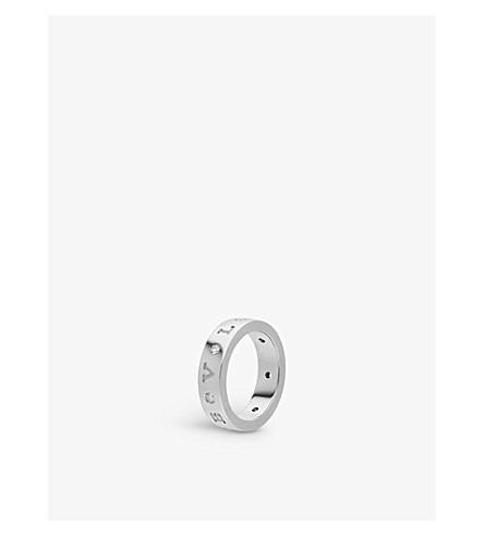BVLGARI Band 18kt white gold and diamond ring