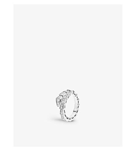 BVLGARI Serpenti 18kt white-gold and diamond ring