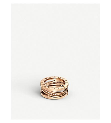 BVLGARI B.Zero1 18ct rose-gold and diamond band ring