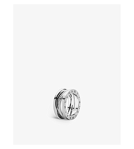 BVLGARI B.Zero1 18ct white-gold and diamond band ring