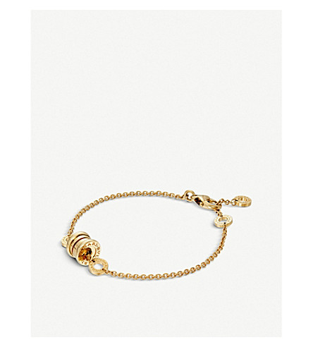 BVLGARI B.zero1 soft 18kt yellow, white and pink-gold bracelet