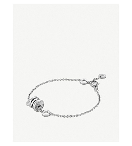 BVLGARI B.zero1 18kt white-gold bracelet